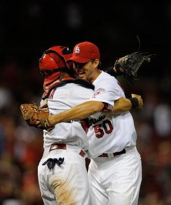 Adam Wainwright strikes out 12, Cardinals win 7-0!  Yay!