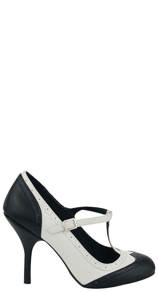 T.U.K. Shoes Bombshell Wingtip Heel   Blame Betty
