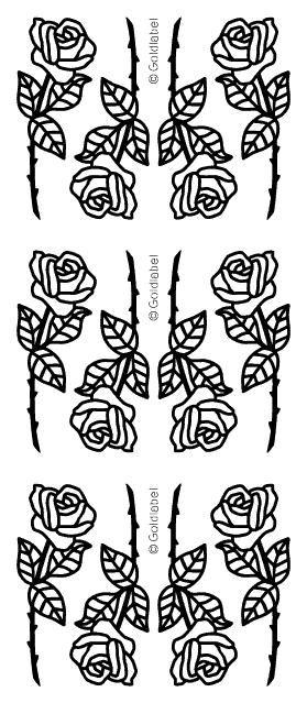 Ääriviivatarra kulta, ruusu Sinelli - Askarteluverkkokauppa - Askartelu - Askartelutarvikkeet