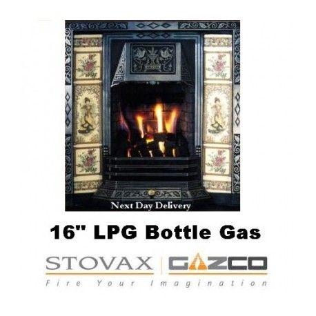 """Bottled Gas Fire 16"""" Caribbean Glow Gazco 16"""" VFC Tapered ..."""