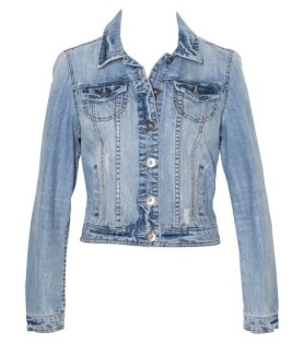 Just Jeans - Womens - Tops - Distressed Denim Jacket - Cloud