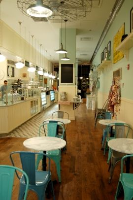 magnolia bakery- my favorite little cupcake place in NY!  I can smell it now!