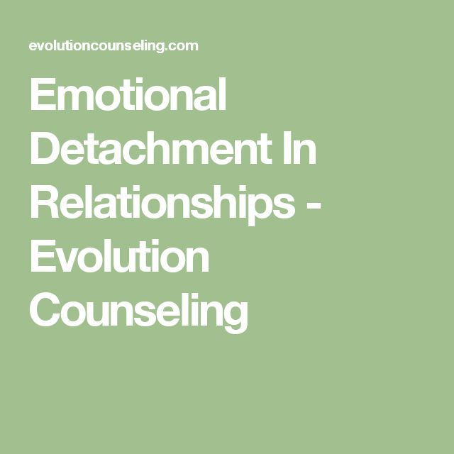 emotionally detached relationship