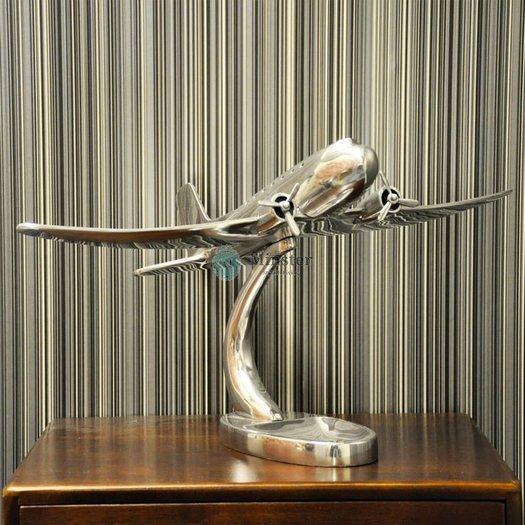 An Interesting Chrome Plated model of an airplane. €130 Call and secure over the phone: 01-4966851 or on http://www.rugstorhinos.com/ #airplane #interiordesign