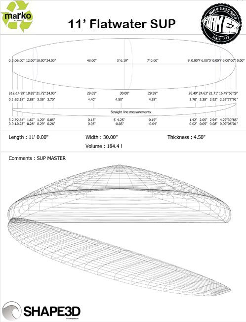 Marko 11ft Flatwater SUP