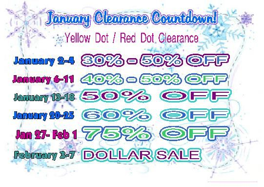 January Clearance Countdown time!#bargainbettys www.bargainbetty.net