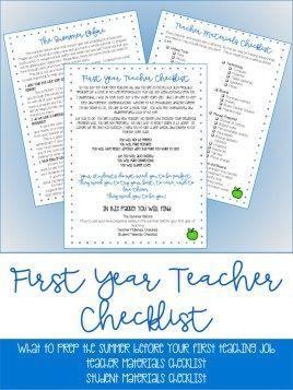 New Teacher Checklist Freebie!