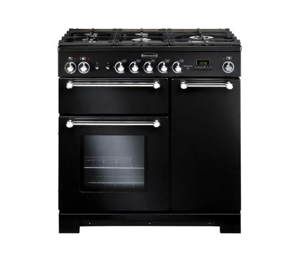 Buy RANGEMASTER Kitchener 90 Dual Fuel Range Cooker - Black | Free Delivery | Currys #KitOutYourKitchen
