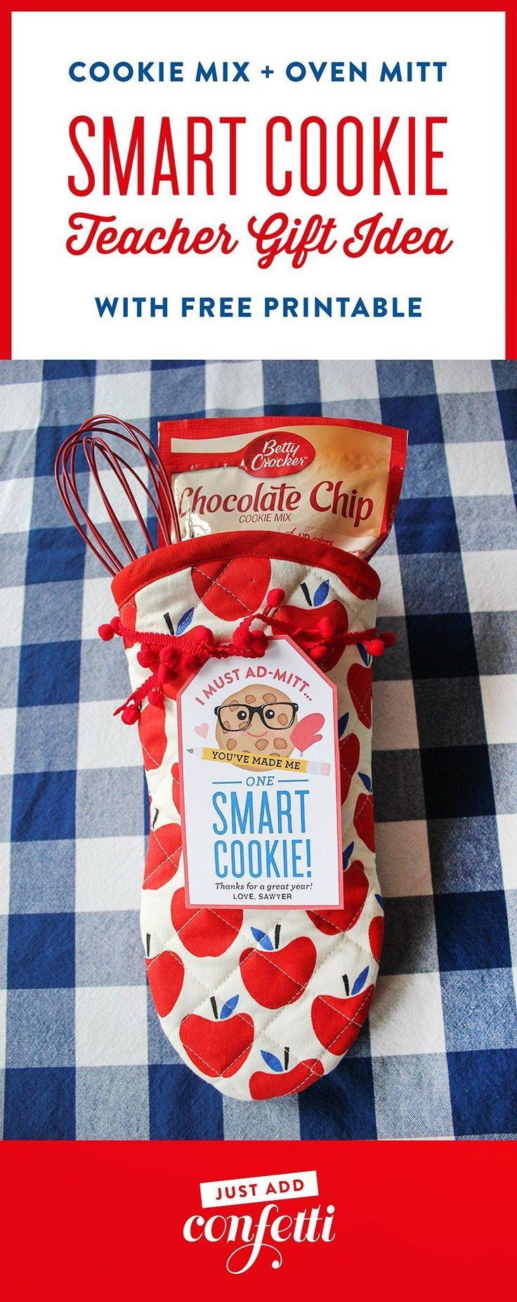 "Oven Mitt ""Smart Cookie"" Teacher Gift Idea"