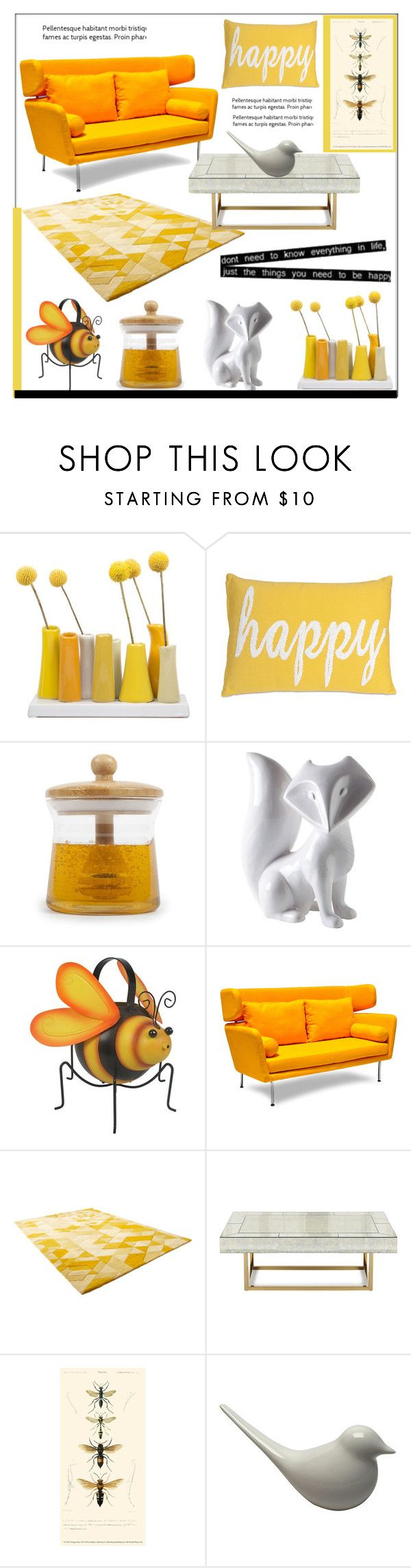"""""""Happiness"""" by pat912 ❤ liked on Polyvore featuring interior, interiors, interior design, home, home decor, interior decorating, Dot & Bo, Cyan Design, Jonathan Adler and Home"""