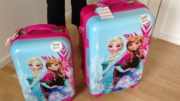 Disney Frost trolley kufferter til børn, med 4 hjul - Gratis fragt