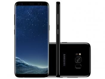 "Smartphone Samsung Galaxy S8 64GB Preto Dual Chip - 4G Câm. 12MP + Selfie 8MP Tela 5.8"" Quad HD"