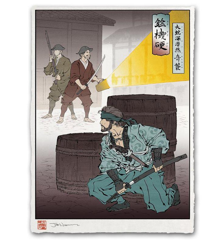 Solid Snake as a Ninja. http://ift.tt/2g598DT