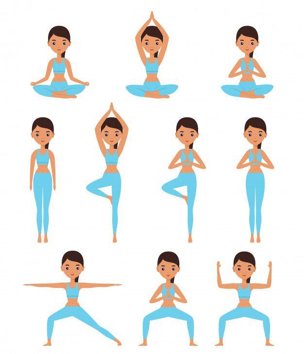 Mujer De Pie En Posturas De Yoga Loto D Premium Vector Freepik Vector Arbol Posturas De Yoga Posturas De Yoga Para Ninos Imagenes De Yoga