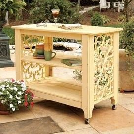 THIS IS SO UPSCALE AND BEAUTIFUL, but is only made with two black rubber door mats nailed on sides of table... and spray it all..... adorable