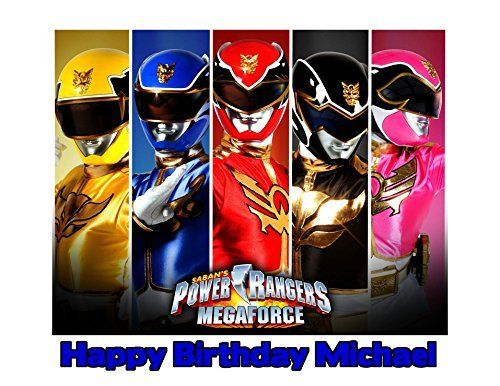 Power Rangers Megaforce Image Photo Cake Topper Sheet Personalized Custom Customized Birthday Party  14 Sheet  79766 * For more information, visit image link.(This is an Amazon affiliate link and I receive a commission for the sales)