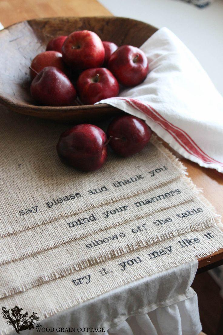 DIY Burlap Placemats by The Wood Grain Cottage