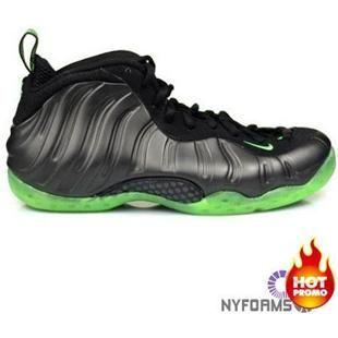 http://www.asneakers4u.com/ Nike Air Foamposite One Black Electric Green