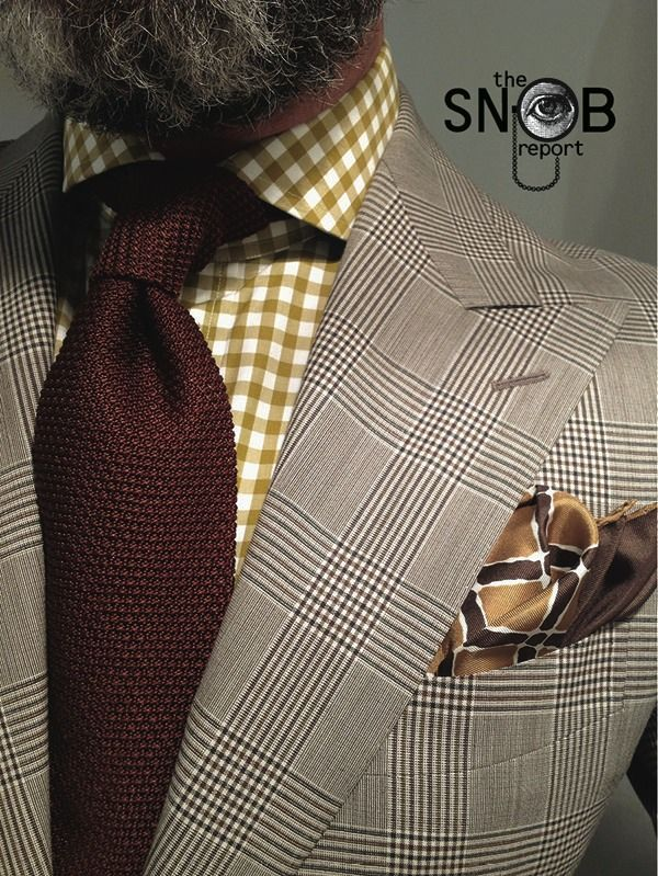 Wiwt pow check suit suitsupply mustard gingham shirt for Mens yellow gingham shirt