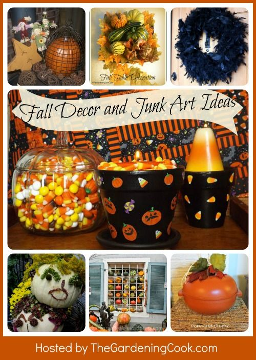Want to design for Halloween on a budget? Jump into the junk pile for a while! Check out these creative home Halloween junk art and decor projects from Garden Charmers.