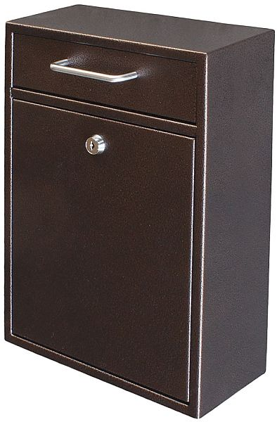 epoch design locking wallmounted drop box four finishes locking mailboxes seattleluxe commercial mailboxes - Commercial Mailboxes