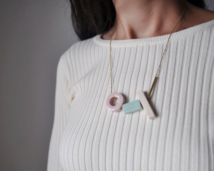 EUCLIDES necklace. Ceramic jewerly. #artesaniadegalicia