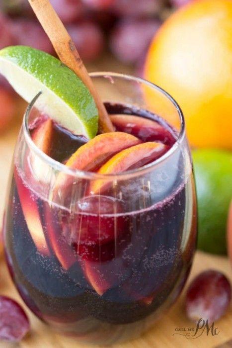 Red Wine Citrus Sangria Recipe is the best, festive cocktail. Full of fruit! easy recipe!