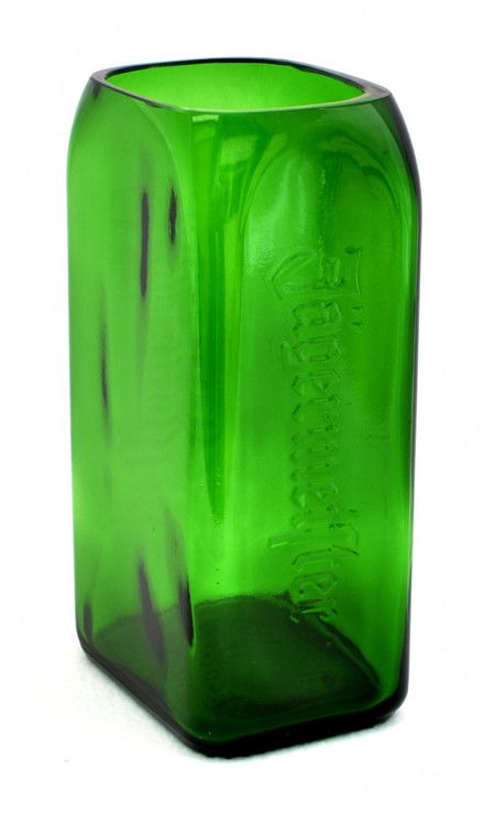 This emerald green vase was handcrafted from a 1L Jägermeister® bottle. Go green in more ways than one! Help reduce, reuse and recycle by shopping at www.shopboxhill.com