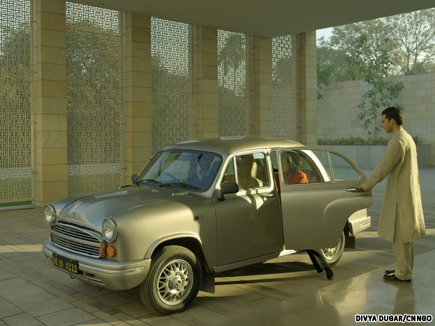 Aman New Delhi Ambassador Car. I would love to have this car in New York! Love it!