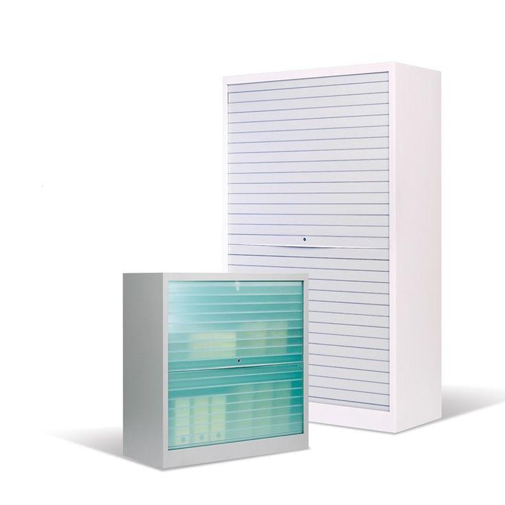 De Q'color is een opbergkast die zich in de meest hedendaagse interieurs thuis voelt. De optie Q'reflet geeft in het licht een veelkleurige schijn aan de rolluiken. Dankzij het synchroon openingsmechanisme van de Q'bic volstaat één enkele handbeweging om de twee rolluiken moeiteloos simultaan te openen. #Kinnarps #Qbic #Qcolor #Opbergmeubel