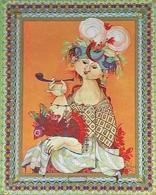 Vintage Bjorn Wiinblad poster