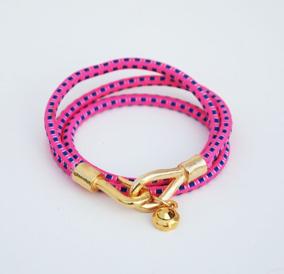 bungee cord bracelet with crystal? yes please :)