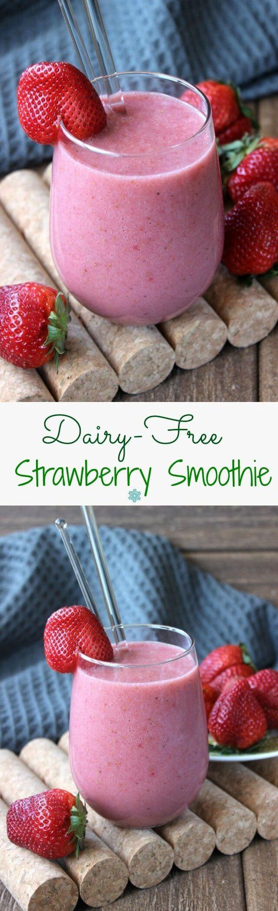 cool Dairy-Free Strawberry Smoothie