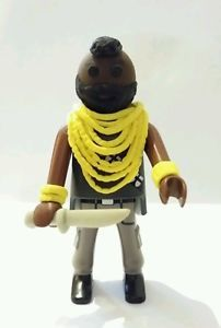 FIGURA PLAYMOBIL CUSTOM Mr. T - M.A. - EQUIPO A