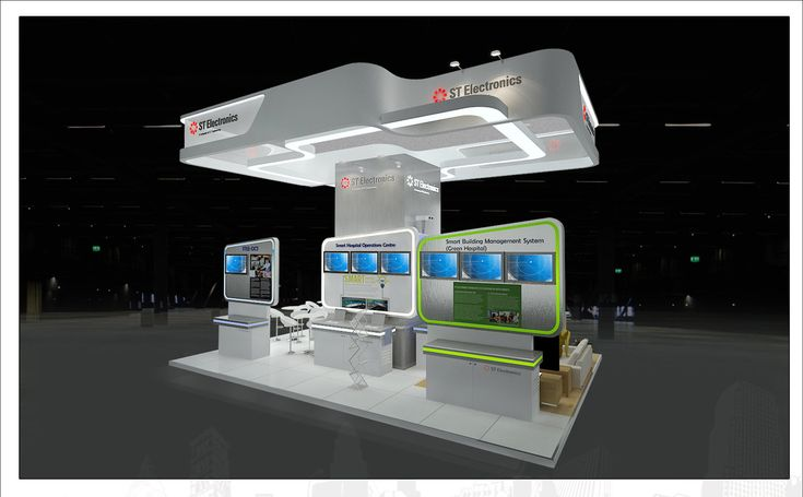 ST Electronics ,Stand Designs for HIMSS by Ila Saini at Coroflot.com
