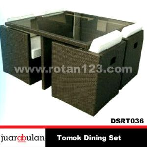 Tomok Dining Set Meja Makan Rotan Sintetis DSRT036 copy