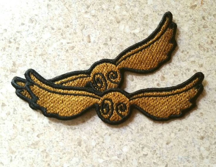 "Harry Potter: Golden Snitch 4"" Embroidered Iron-On Patch by TSVNYL on Etsy (null)"