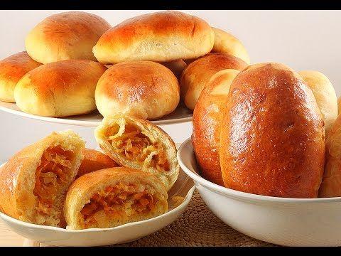 Печёные Пирожки с Капустой, и Мясом. Мягкие как Пушок. Рецепт Универсального Теста - YouTube