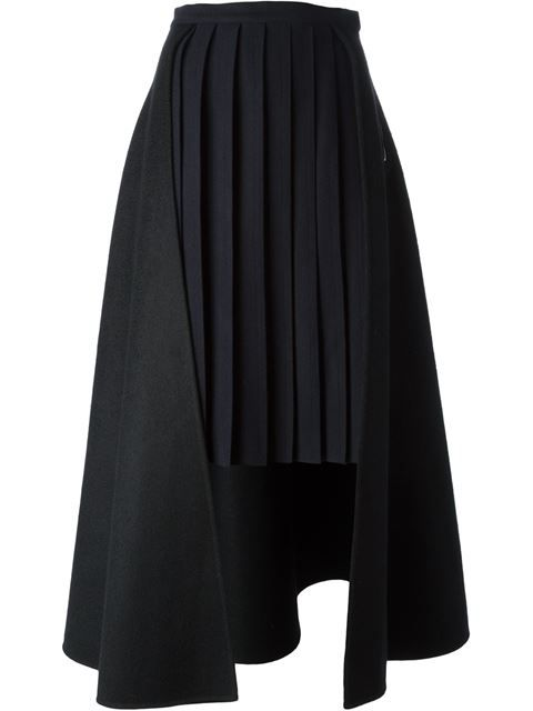 Yang Li Pleated Panel Skirt - Voga - Farfetch.com