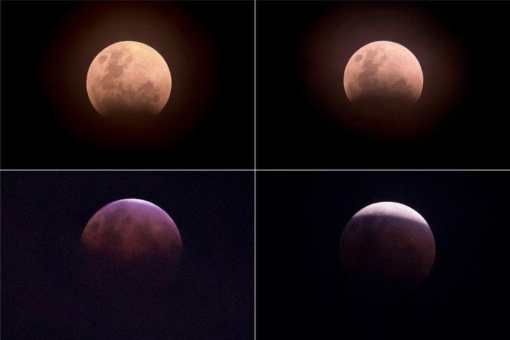 Las mejores fotos del eclipse total de la superluna azul de sangre