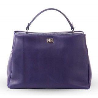 Ivona - geanta din piele naturala - bleumarin