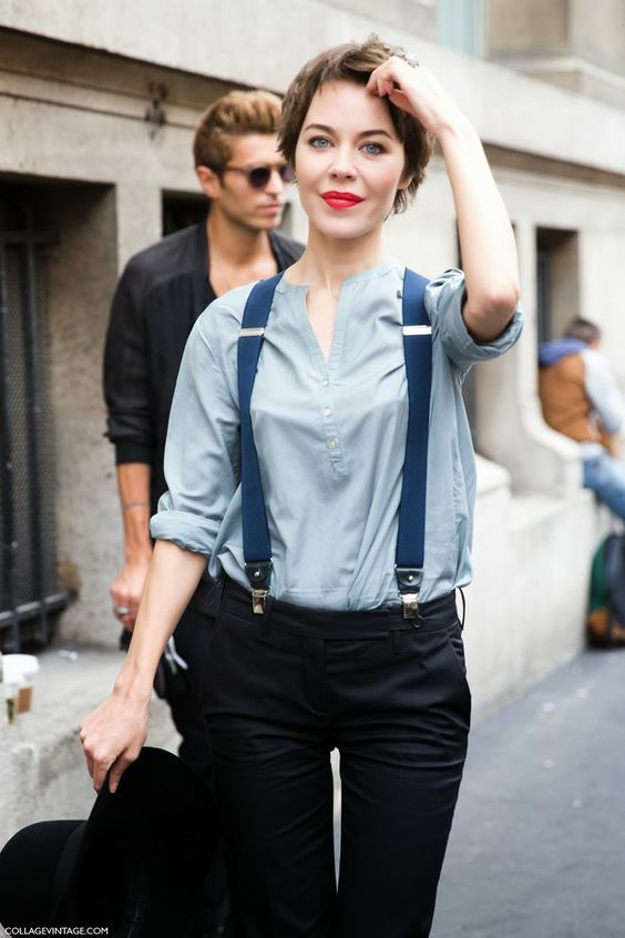 Every Girl's Solution To Their Problem About What To Wear On Short Hair Which Is Also Giving A Sexy Look- Suspenders!