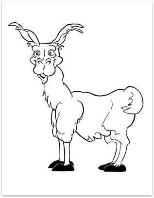 image detail for funny llama coloring page