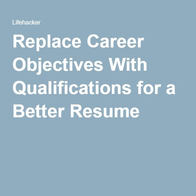 Las 25 mejores ideas sobre Career Objectives For Resume en Pinterest - objectives on resume