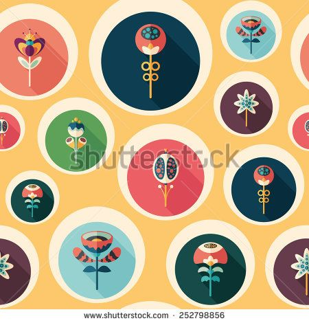 Seamless pattern with colorful flowers on yellow background. #flowerpattern #vectorpattern #patterndesign #seamlesspattern