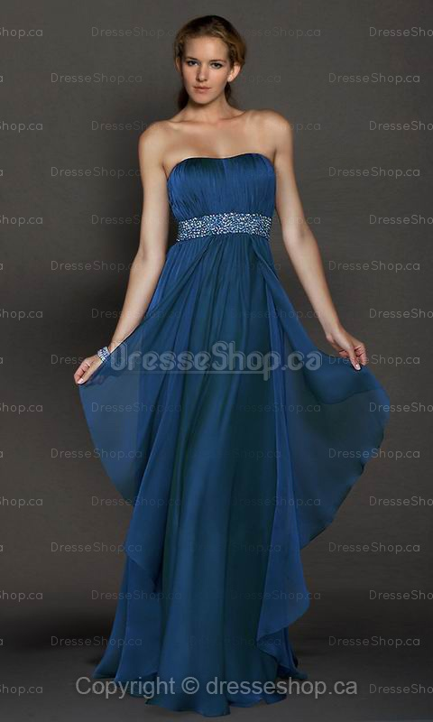 DarkNavy Beading Evening Dress