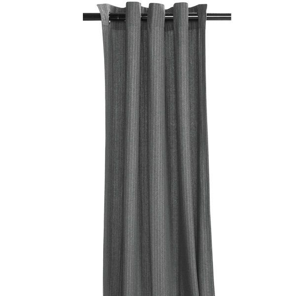 """Commonwealth Home Fashions Flannel Stripe Curtains - 84"""", Grommet Top"""