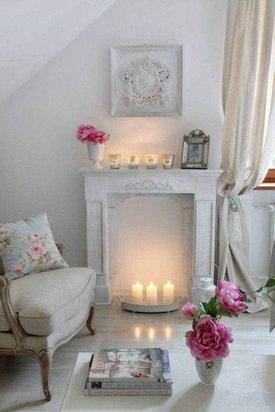 Deko Kamin Windlichter Kaminsims Weisse Kerzen Furniture Designs