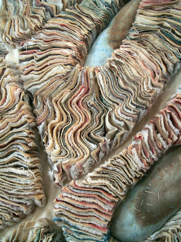 Fabric Manipulation and textile design - evocative cloth layers