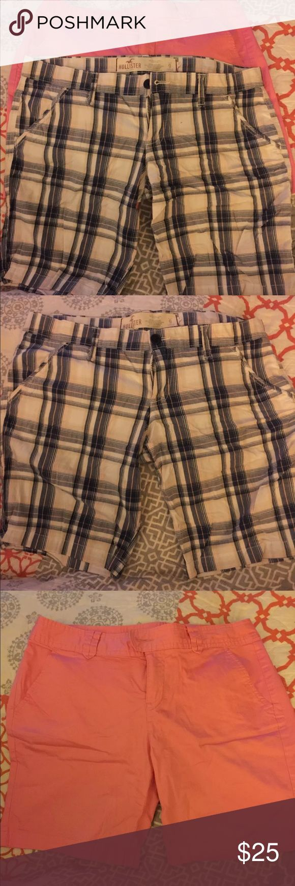 Hollister and Red Camel Shorts Bundle Hollister- plaid with white/blue/pink and Red Camel- Pink Hollister and Red Camel Shorts Bermudas